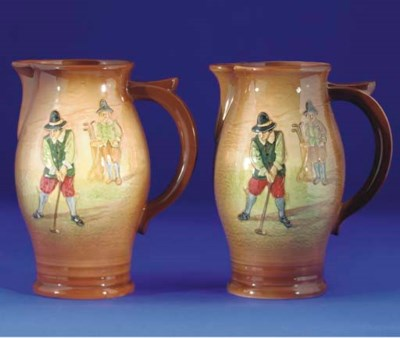 A PAIR OF ROYAL DOULTON KINGS