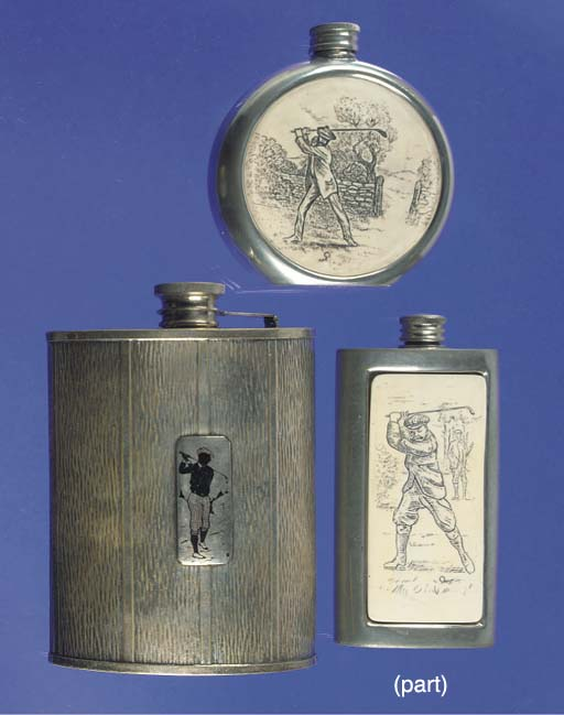 A SILVER HIP FLASK