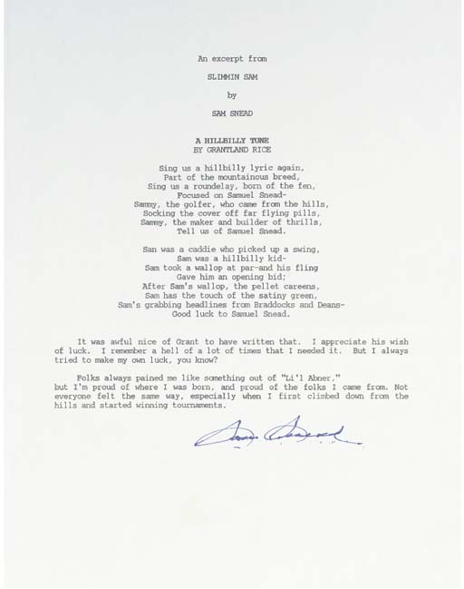 A TYPED AND SIGNED LETTER FROM