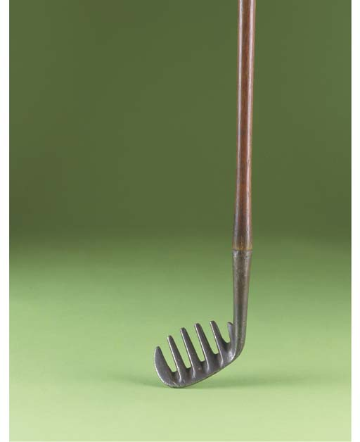 A BROWN'S PATENT THISTLE RAKE