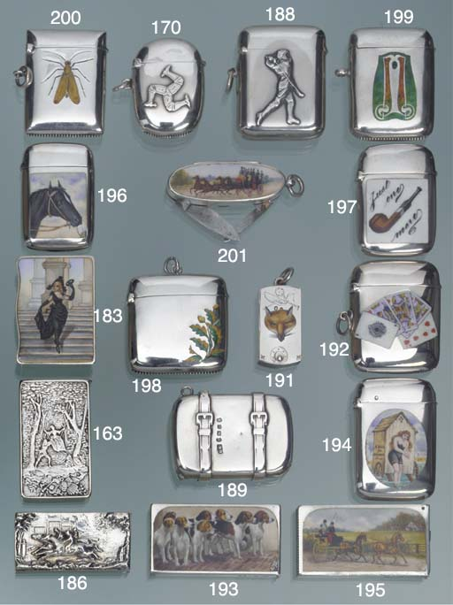 A Victorian silver vesta case