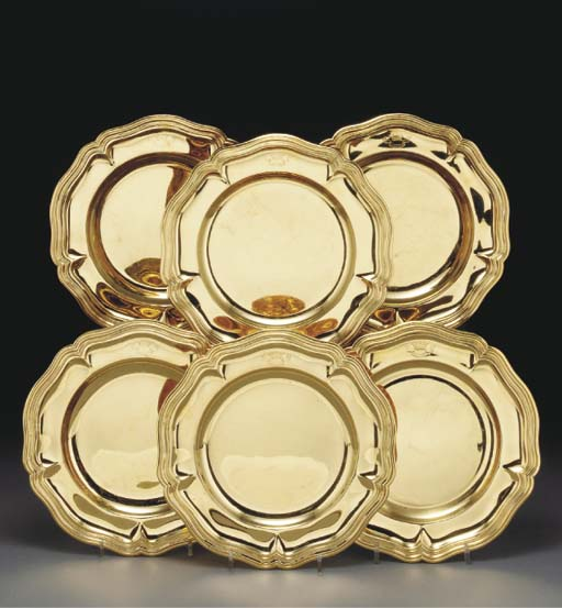 A Set of Twelve French Gilt-Pl