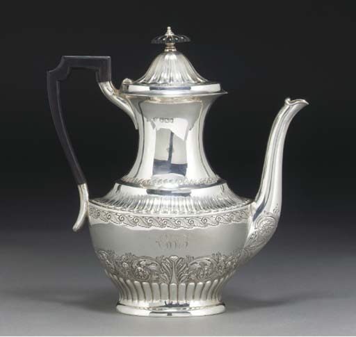 A LATE VICTORIAN SILVER COFFEE