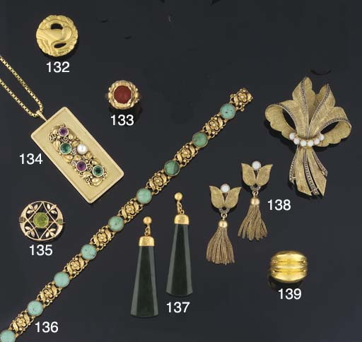An early 20th century, gold an