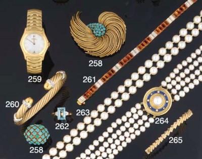 A diamond set bangle