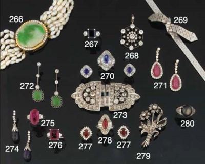 An Edwardian diamond brooch pe