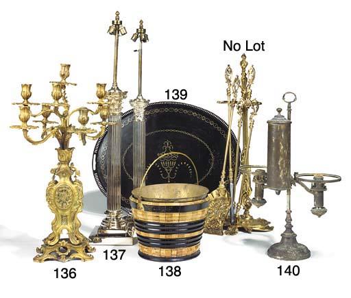 A French gilt bronze eight light candelabrum