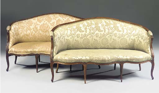 A near pair of French stained