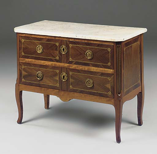 A FRENCH WALNUT, FRUITWOOD AND