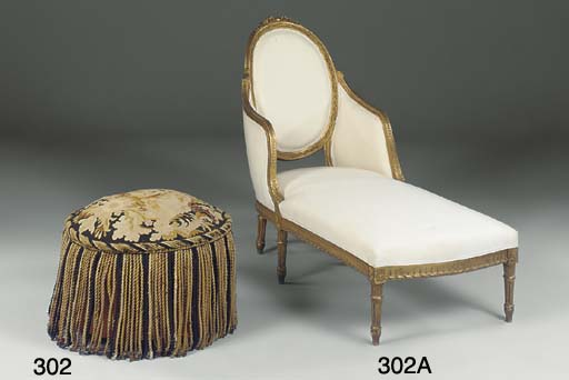 A FRENCH DRUM STOOL