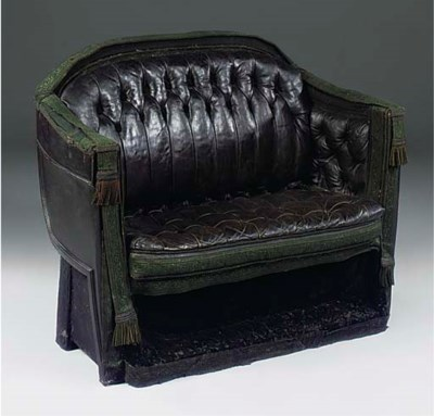 A VICTORIAN CARRIAGE SEAT