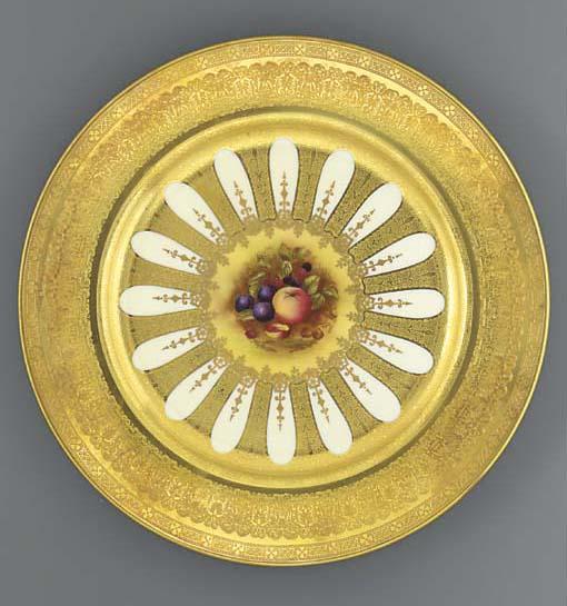 Three Aynsley plates