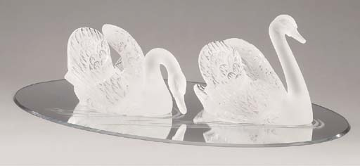 Two Lalique clear and frosted