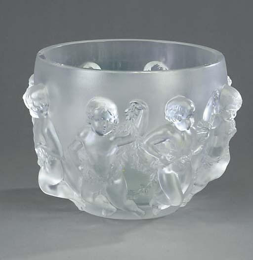 A large Lalique bowl