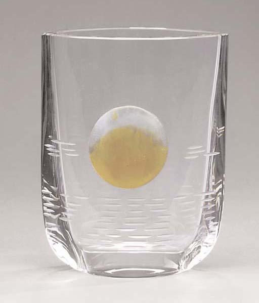 A Daum clear-glass vase