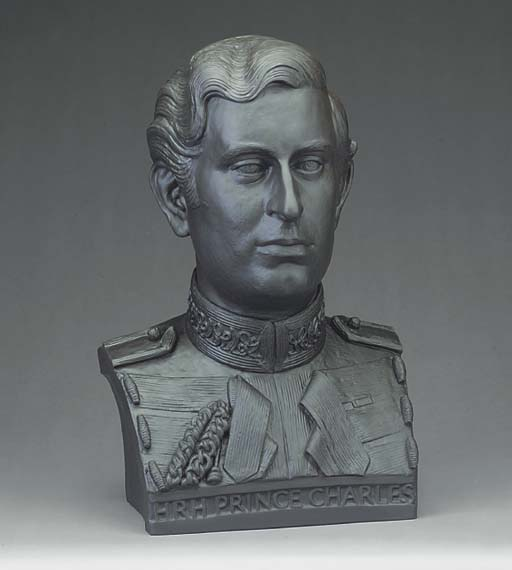 A Wedgwood black basalt commemorative Royal portrait bust
