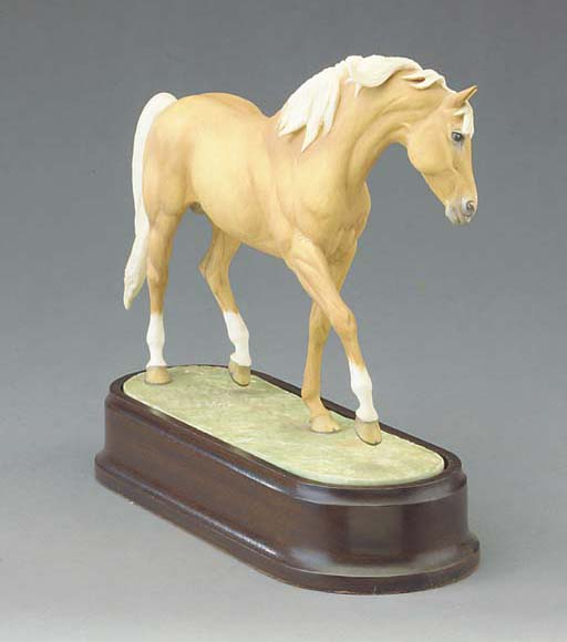 A Royal Worcester limited edition model of Palomino Stallion