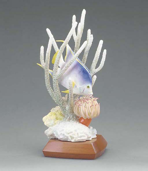A Royal Worcester limited edition model of a Blue Angel fish