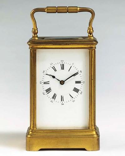 A French gilt-brass striking c