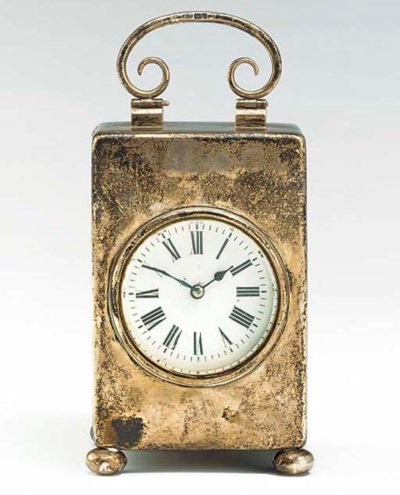A Victorian silver travel time