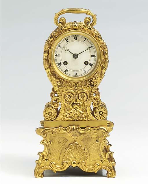 A French gilt-brass striking p
