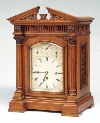 A Victorian oak large quarter-