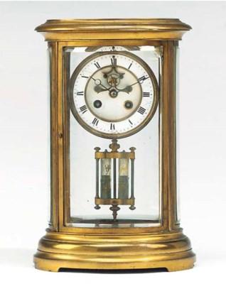 A French gilt-brass striking f