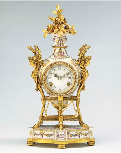 A porcelain and gilt-metal mou