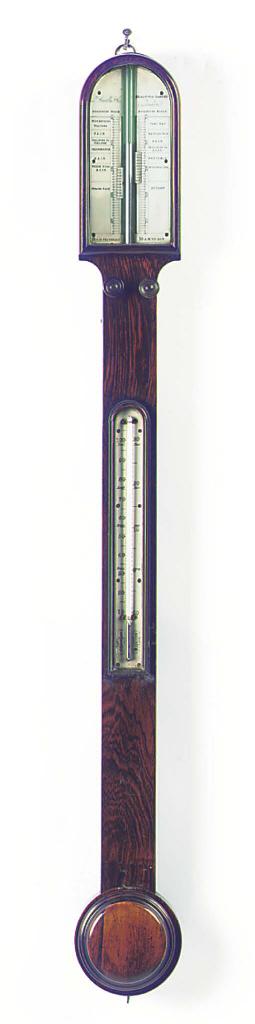 A Victorian rosewood stick bar