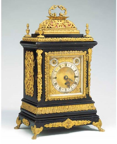 A Victorian ebonised and gilt-
