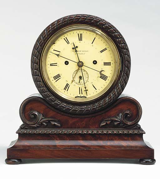 An early Victorian mahogany ma