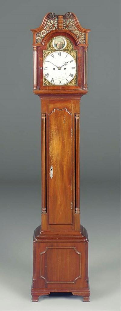 An English mahogany miniature