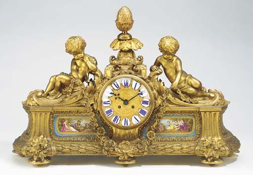 A Napoleon III large ormolu an