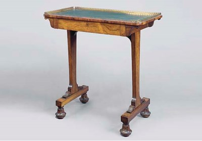 A SMALL REGENCY ROSEWOOD WRITI