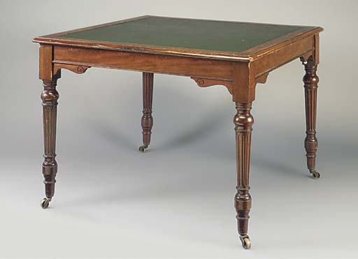 A MAHOGANY WRITING TABLE