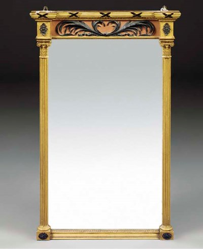A giltwood and painted pier mi