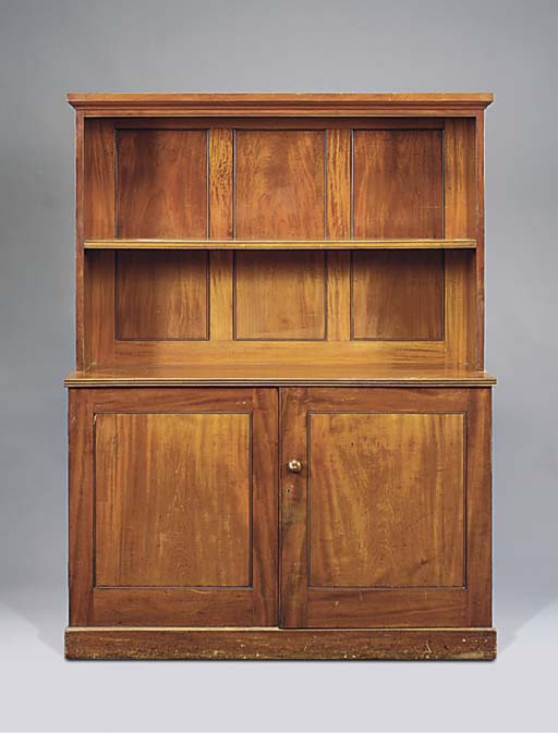 A MAHOGANY SIDE CABINET OR BOO