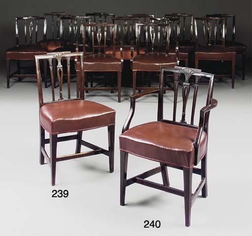 A set of twelve mahogany and r