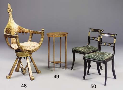 A set of four Regency gilt met