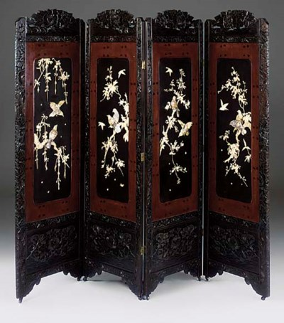 A JAPANESE CARVED LACQUERED IV