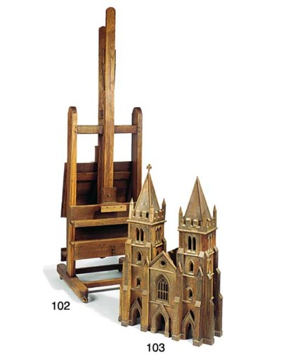 A pine model of a cathedral fr