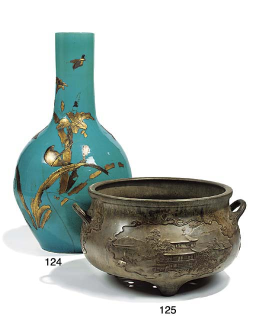 A Chinese bronze jardiniere