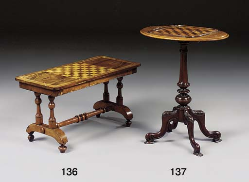 A VICTORIAN WALNUT AND INLAID