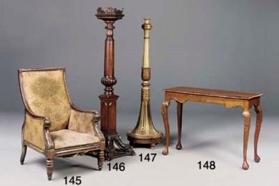 A Victorian mahogany torchere