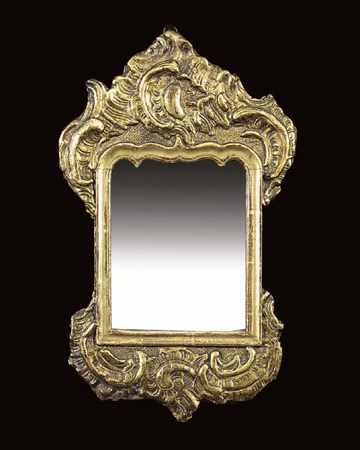 A SMALL FRENCH GILTWOOD WALL M