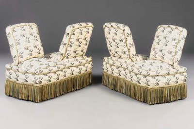 A pair of French upholstered s