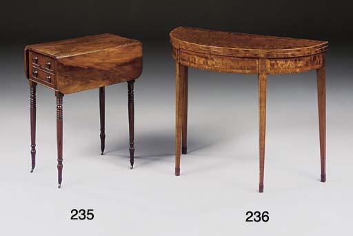 A George III mahogany and cros