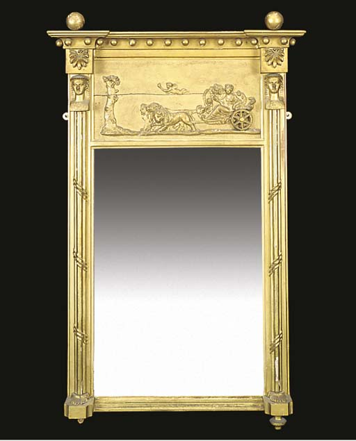 A GILTWOOD AND COMPOSITION PEE