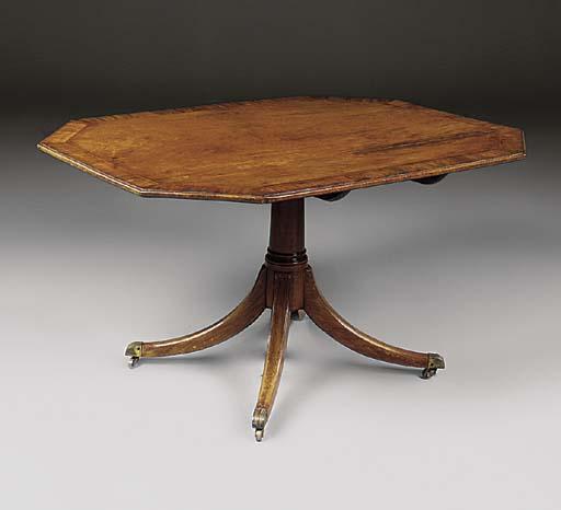 A mahogany and crossbanded oct