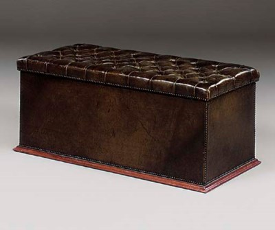 A Victorian green leather upho